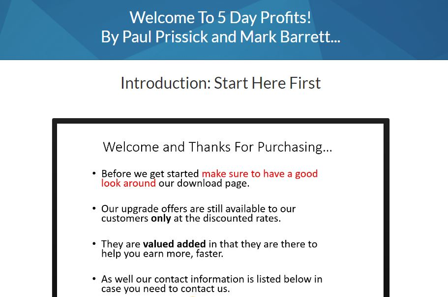 5 Day Profits Review