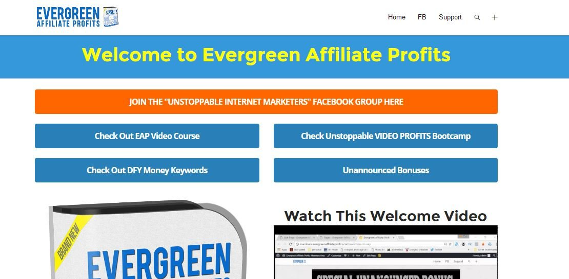 Evergreen Affiliate Profits Review