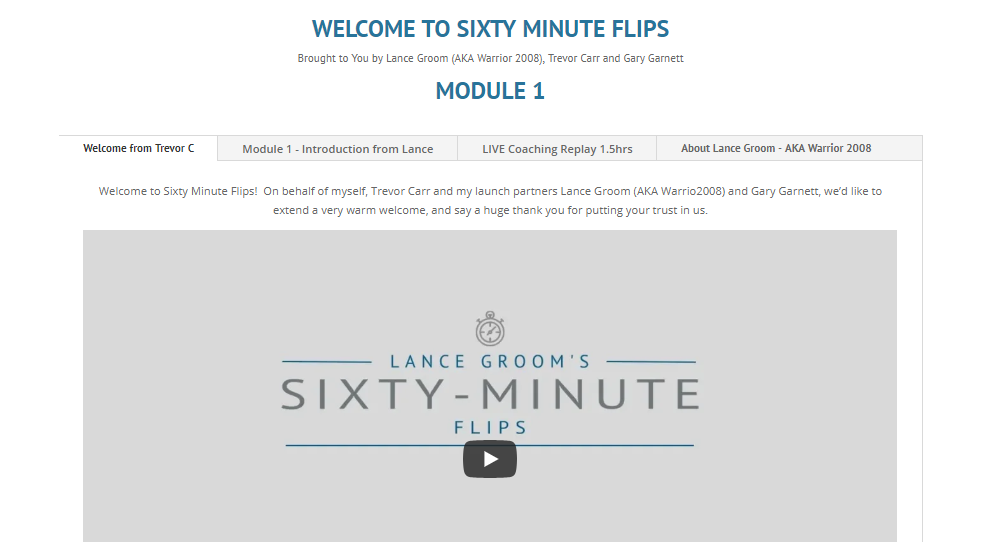 60 Minute Flips Review