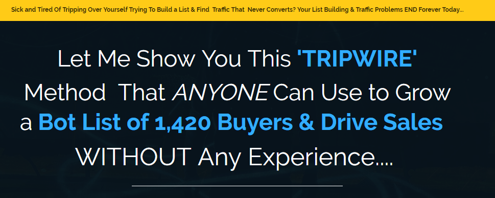 Tripwire Buyer Traffic Review