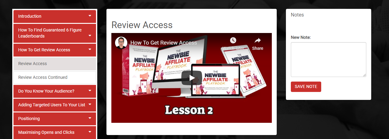 The Newbie Affiliate Playbook Review